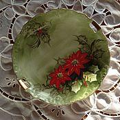 Винтажные тарелки ручной работы. Ярмарка Мастеров - ручная работа Тарелка Рождество. Handmade.