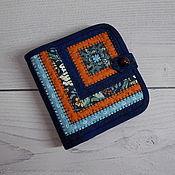 Сумки и аксессуары handmade. Livemaster - original item Patchwork wallet, Blue, patchwork, purse, Textile. Handmade.