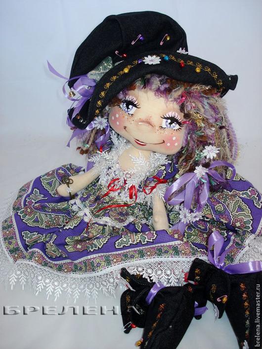 Сказочные персонажи ручной работы. Ярмарка Мастеров - ручная работа. Купить Кукла текстильная Маленькая Волшебница. Handmade. Сиреневый, текстиль