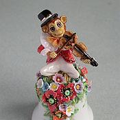 Подарки к праздникам ручной работы. Ярмарка Мастеров - ручная работа Обезьянка - скрипач (колокольчик). Handmade.