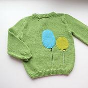 Работы для детей, ручной работы. Ярмарка Мастеров - ручная работа Детский свитер Воздушные шары. Handmade.