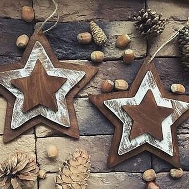 Подарки к праздникам handmade. Livemaster - original item Triple stars. Handmade.