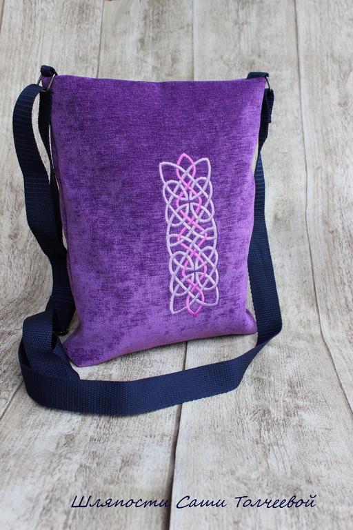 Спортивные сумки ручной работы. Ярмарка Мастеров - ручная работа. Купить Узелки  фиолетовые. Сумка носительная :). Handmade. Фиолетовый
