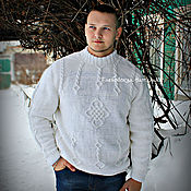 Одежда handmade. Livemaster - original item Mens sweater