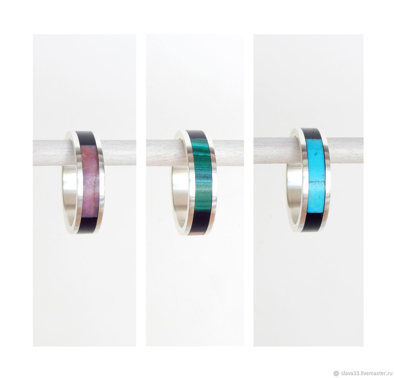 Multi-colored silver ring, Rings, Vladimir,  Фото №1