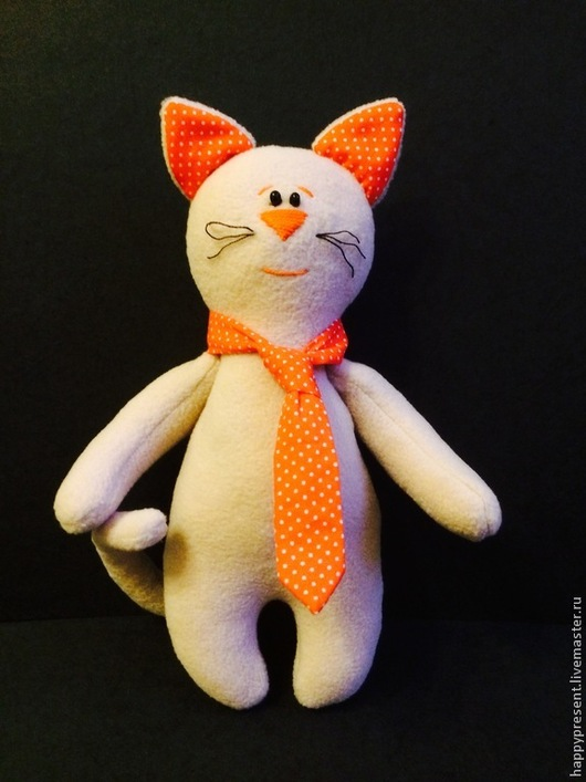 Игрушки животные, ручной работы. Ярмарка Мастеров - ручная работа. Купить Кот в галстуке. Handmade. Бежевый, кот в подарок, подарок