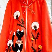 Одежда handmade. Livemaster - original item Flisovaya chaqueta Naranja, el estado de ánimo