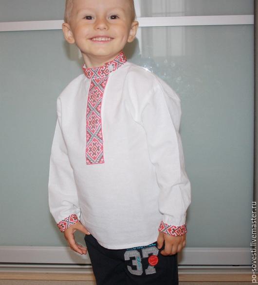 Одежда для мальчиков, ручной работы. Ярмарка Мастеров - ручная работа. Купить Рубаха детская (ручная вышивка). Handmade. Русская, косоворотка