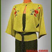 """Одежда ручной работы. Ярмарка Мастеров - ручная работа Вязаный костюм с вышивкой """"Маки"""". Handmade."""