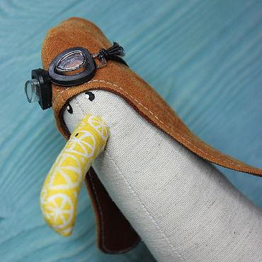 Куклы и игрушки ручной работы. Ярмарка Мастеров - ручная работа Игрушки: Чайка - пилот. Handmade.