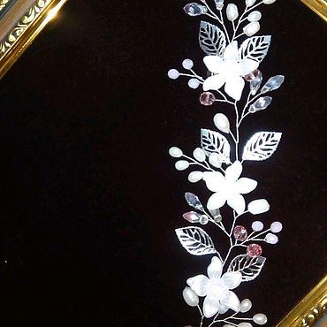 Свадебный салон ручной работы. Ярмарка Мастеров - ручная работа Комплект веточка в прическу и серьги. Handmade.