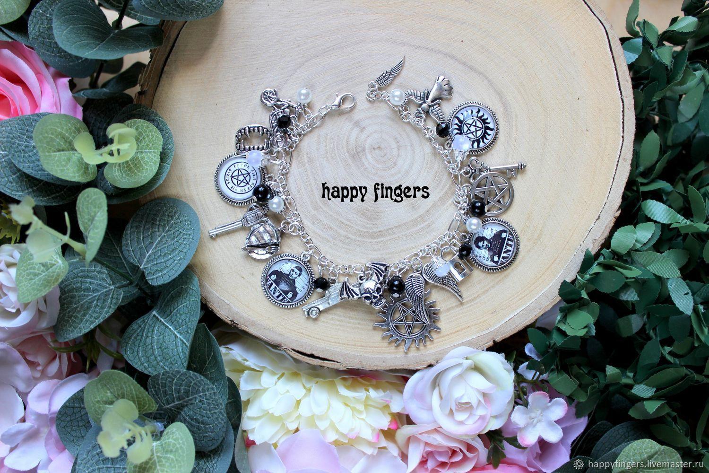Bracelet 'Supernatural' supernatural Winchesters, Bead bracelet, Elektrostal,  Фото №1