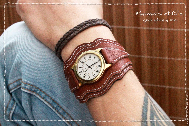 Кожаный браслет для часов своими руками 94