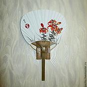 """Аксессуары ручной работы. Ярмарка Мастеров - ручная работа Веер-утива """"Лилии"""". Handmade."""