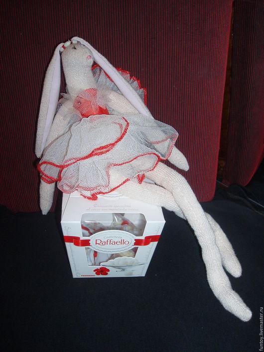 """Куклы Тильды ручной работы. Ярмарка Мастеров - ручная работа. Купить Кукла Тильда """"Зайка-балерина"""". Handmade. Белый, фатин"""
