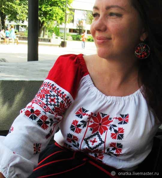 Blouse 'Black river' mini, Blouses, Voronezh,  Фото №1