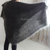 Аксессуары handmade. Livemaster - original item Shawls: warm hand-made down shawl, 130h130 cm, 145. Handmade.