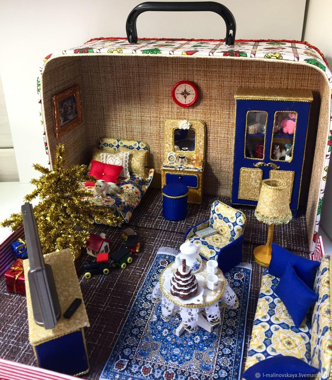 Чемодомик новогодний, Кукольные домики, Москва,  Фото №1