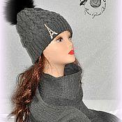 Аксессуары ручной работы. Ярмарка Мастеров - ручная работа Комплект: шапка и шарф, шапка вязаная, шарф вязаный. Handmade.