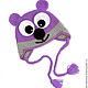 Шапки и шарфы ручной работы. Ярмарка Мастеров - ручная работа. Купить Мишка шапочка (шапка теплая зимняя вязаная с ушками). Handmade.