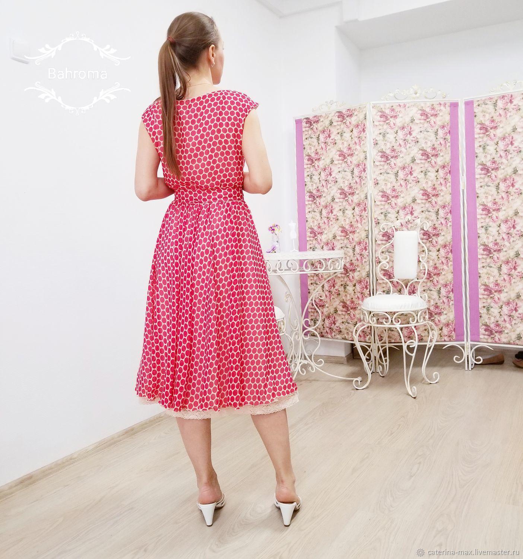 3d2a5b62c09d Платья ручной работы. Ярмарка Мастеров - ручная работа. Купить Платье в  красный горошек шифоновое ...