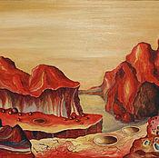 Pictures handmade. Livemaster - original item Mars space landscape oil Painting 50h60. Handmade.