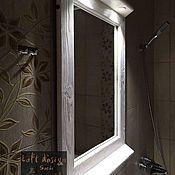 Зеркала ручной работы. Ярмарка Мастеров - ручная работа Зеркало с подсветкой из дерева. Ручная работа. Handmade.