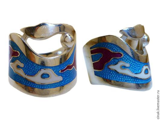 Кольца ручной работы. Ярмарка Мастеров - ручная работа. Купить Серебряное кольцо с эмалью - Узоры племени майя. Handmade. Синий