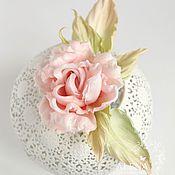 """Свадебный салон ручной работы. Ярмарка Мастеров - ручная работа Роза """"Зефир"""" в нежно персиковом цвете. Крепление на ваш выбор.. Handmade."""