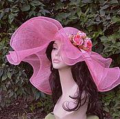 """Аксессуары ручной работы. Ярмарка Мастеров - ручная работа """"Английская роза"""" летняя шляпа. Handmade."""