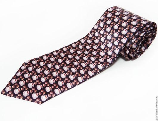 """Галстуки, бабочки ручной работы. Ярмарка Мастеров - ручная работа. Купить Галстук """"Кофейный"""". Handmade. Коричневый, кофе, дизайнерский галстук"""
