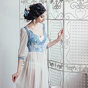 """Одежда ручной работы. Ярмарка Мастеров - ручная работа Будуарное платье """"Синева"""". Handmade."""