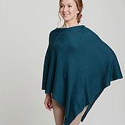 Одежда handmade. Livemaster - original item Cashmere poncho pregnancy clothes maternity clothes green poncho plus. Handmade.