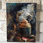 """Картины и панно ручной работы. Ярмарка Мастеров - ручная работа Картина """"Кипящий чайник"""".. Handmade."""
