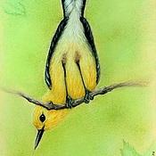 Картины и панно ручной работы. Ярмарка Мастеров - ручная работа Птичка. Handmade.