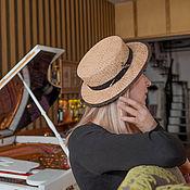 Аксессуары ручной работы. Ярмарка Мастеров - ручная работа Шляпа канотье соломенная. Handmade.