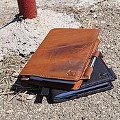 Канцелярские товары ручной работы. Ярмарка Мастеров - ручная работа ежедневник -блокнот -notebook коричневый. Handmade.
