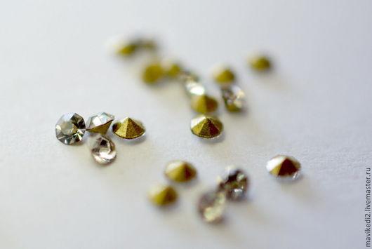 """Для украшений ручной работы. Ярмарка Мастеров - ручная работа. Купить ювелирные стразы/ """"бриллиант""""/ 1,5 мм. Handmade."""