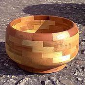 Посуда ручной работы. Ярмарка Мастеров - ручная работа Чаша-конфетница деревянная сегментная. Handmade.