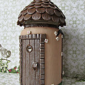 Посуда handmade. Livemaster - original item A house for fairies. Big house. A set of houses, a Set of jars for spices.. Handmade.