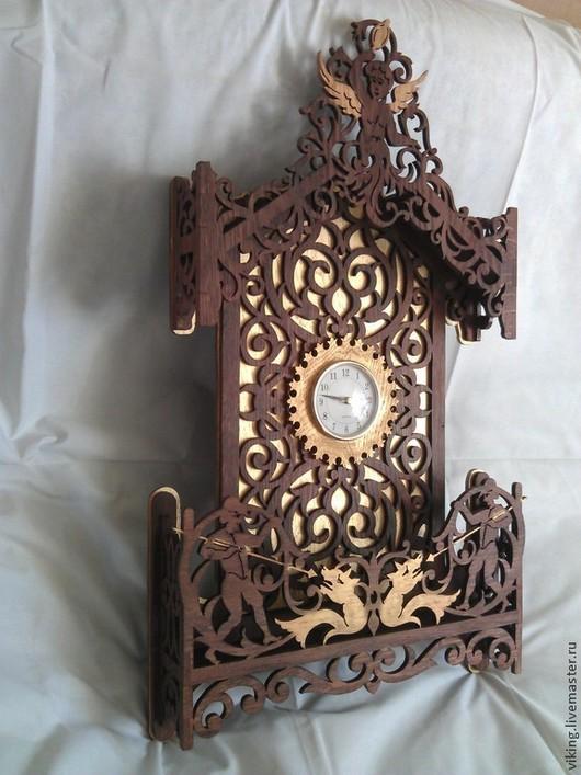 Часы для дома ручной работы. Ярмарка Мастеров - ручная работа. Купить Часы настенные. Handmade. Разноцветный, настенные часы, вишня