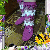 Обувь ручной работы. Ярмарка Мастеров - ручная работа Сапожки тёплые,авторская работа,фуксия, весна-осень. Handmade.
