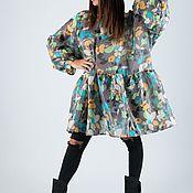 Одежда handmade. Livemaster - original item Summer loose tunic, Bright tunic-TU0426CT. Handmade.