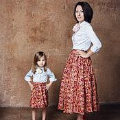 Одежда ручной работы. Ярмарка Мастеров - ручная работа Юбки для мамы и дочки (Family-look). Handmade.