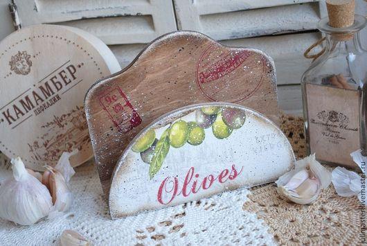 """Кухня ручной работы. Ярмарка Мастеров - ручная работа. Купить Салфетница """"Олива"""". Handmade. Салфетница, олива, прованс"""