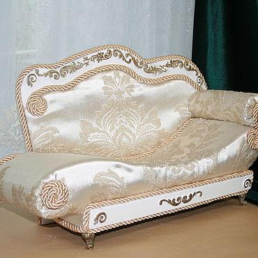 Dolls & toys handmade. Livemaster - original item Baroque sofa for boudoir doll up to 50cm. Handmade.