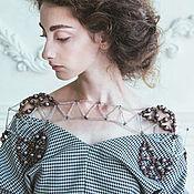 Колье ручной работы. Ярмарка Мастеров - ручная работа Дизайнерское ожерелье.. Handmade.