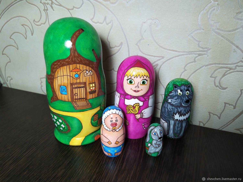 Матрешка Маша и медведь, Куклы и пупсы, Мозырь,  Фото №1