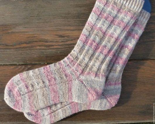 Носки, Чулки ручной работы. Ярмарка Мастеров - ручная работа. Купить Женские вязаные носки. Handmade. Комбинированный, вязаные носочки