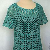Одежда handmade. Livemaster - original item Tunic silk Emerald. Handmade.